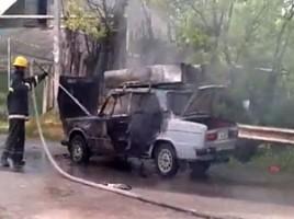O masina a ars in total la ialoveni