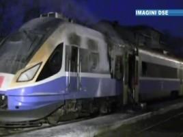 Trenul european s-a aprins din cauza generatorului defect