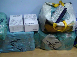 Contrabanda cu haine din Italia