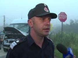 Accident rutier in Romania cu implicarea unui microbuz cu moldoveni. 7 persoane la spital