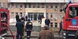 Incendiu la Institutul de Ftiziopneumologie din capitala