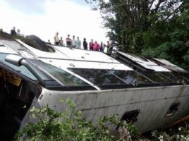 Accident grav in Ucraina- un autocar prabusit. 45 de persoane ranite