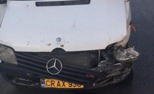 Accident rutier -un microbuz de pe ruta Magdacesti - Chisinau