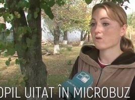 Un copil de doar DOI ANI a fost uitat în microbuz scolar pentru aproape 7 ore la Ungheni