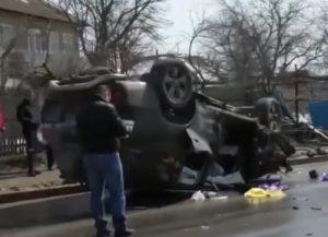 Accident grav la Peresecina cu o masina de lux. Soferul grav ranit